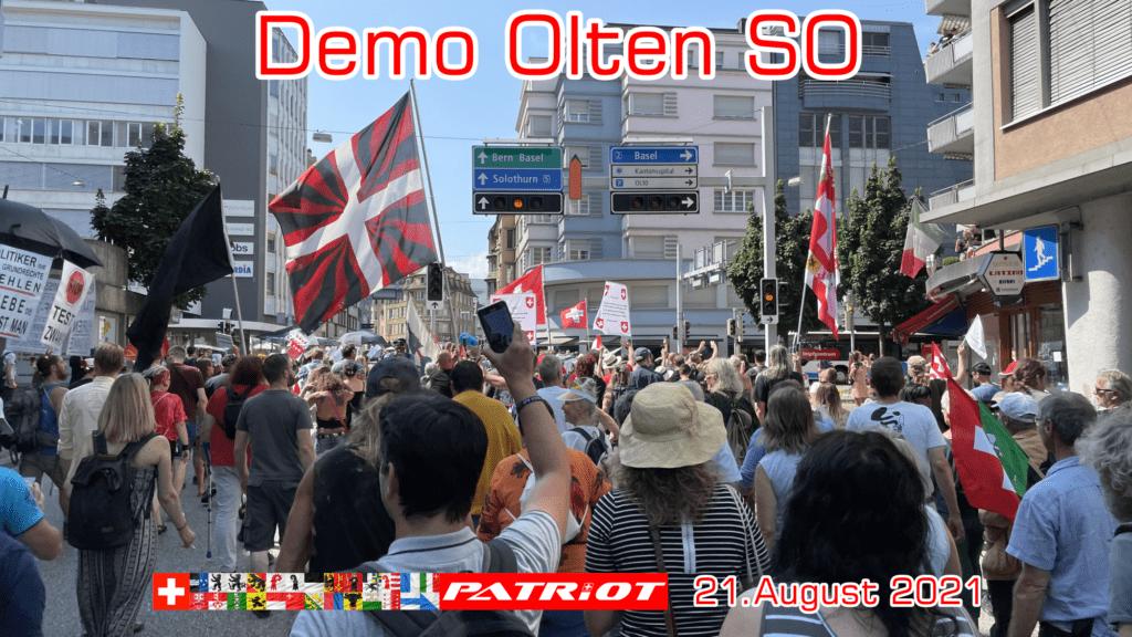 Freiheitstrychler & Patrioten bringen Freiheit nach Olten SO – Demo 21.08.2021