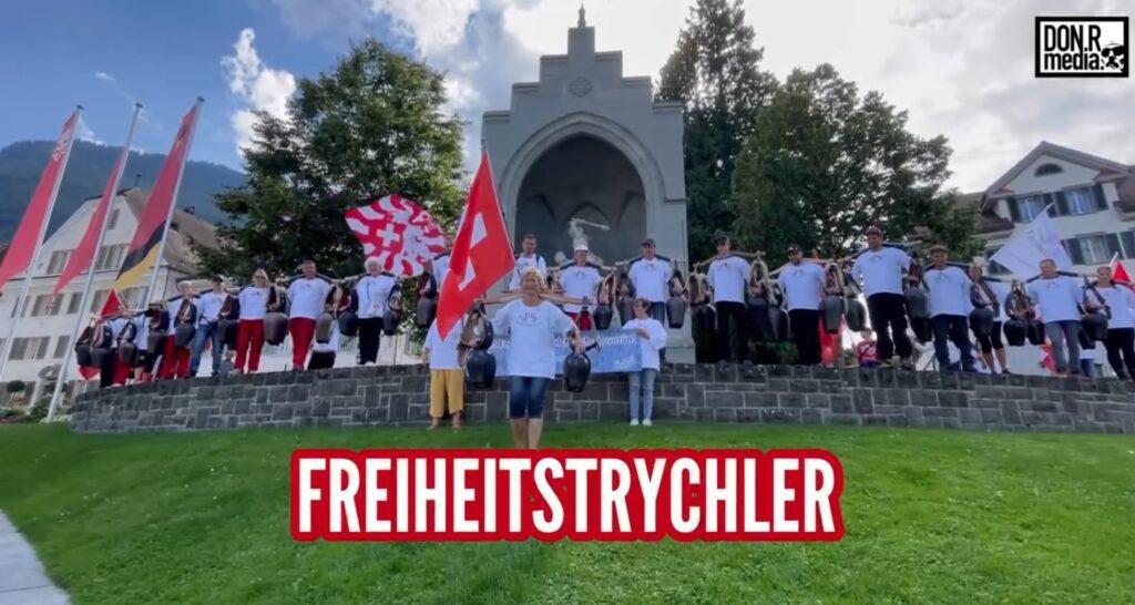 FREIHEITSTRYCHLER beim Winkelried Denkmal in Stans